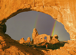 Arches Turret North Window Rainbow
