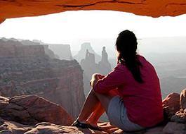 Canyonlands National Park Mesa Arch Woman