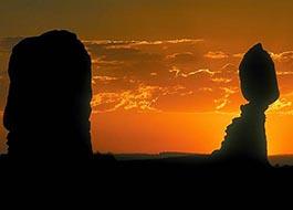 Moab Arches National Park Balance Rock Sunset