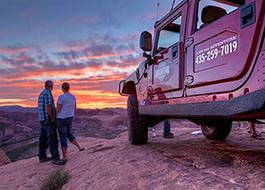 Moab Hummer Tours Sunset Couple
