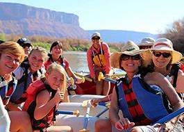 Moab River Rafting Ladies Smiling
