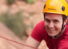 Moab Rock Climbing Man Smile