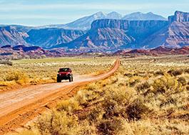 Moab Utah Jeep Desert Road