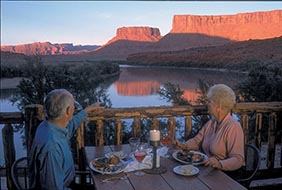 Dinner at Red Cliffs Lodge