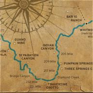Map of Fisher Towers Colorado River
