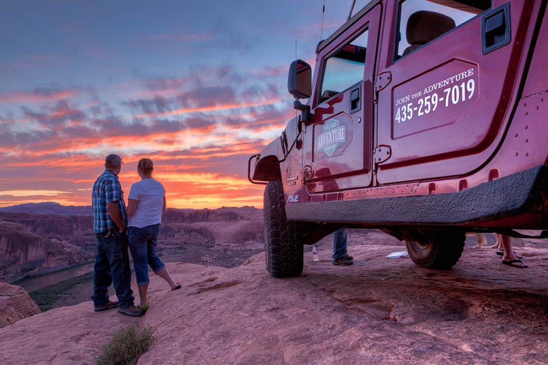 Moab Hummer Tours Sunset Couple