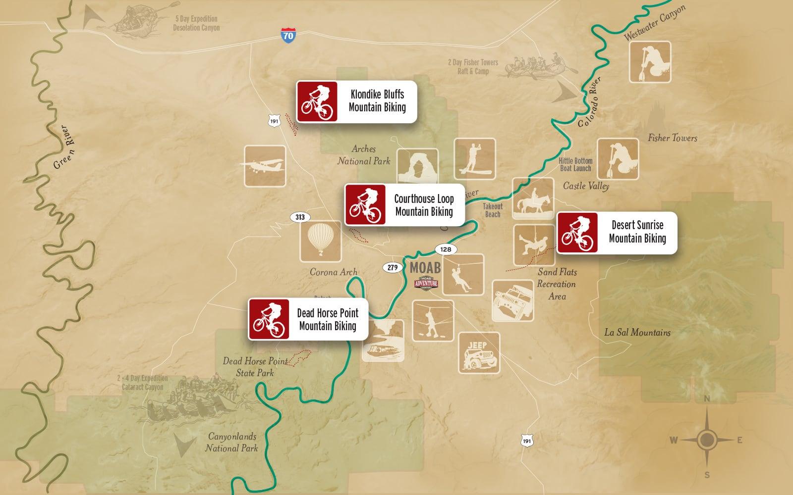 moab mountain biking map