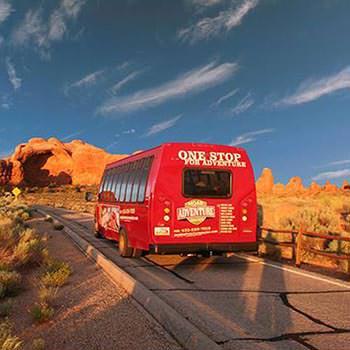 Moab Arches National Park Van Rear