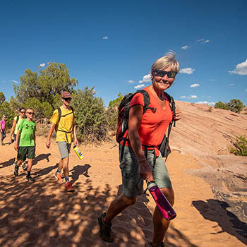 Hiking to the Canyoneering