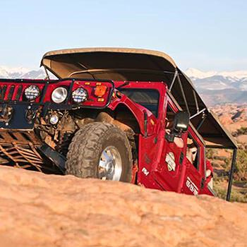Moab Hummer Tours Front Climbing