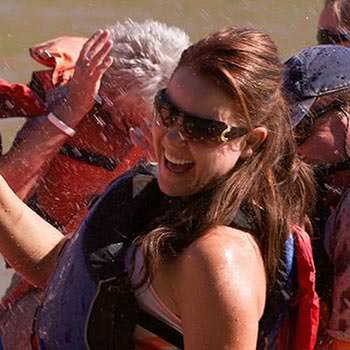 Moab River Rafting Fun Smile Woman