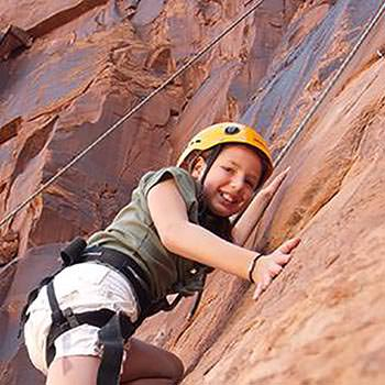Moab Rock Climbing Kid Girl