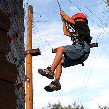 Moab Ropes Course Kid Climbing