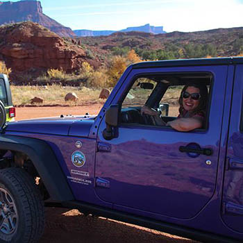 Moab Utah Jeep Hottie in Purple