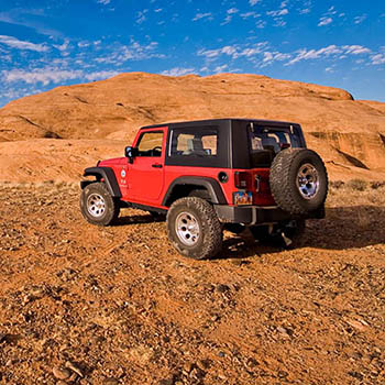 Moab Utah Jeep Red Sky