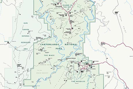 Canyonlands Nps Map