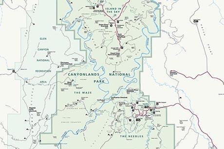 Canyonlands National Park Map