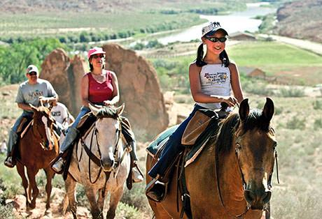 Moab Horseback Riding Family