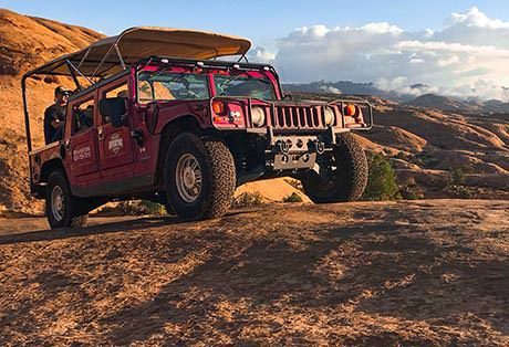 Moab Hummer Tours Side Clouds 2