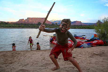 Moab River Rafting Kid Hayden