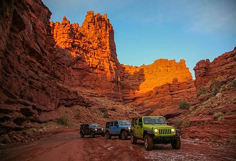 Moab Utah Jeep Blazing