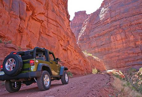 Moab Utah Jeep Green Canyon Road
