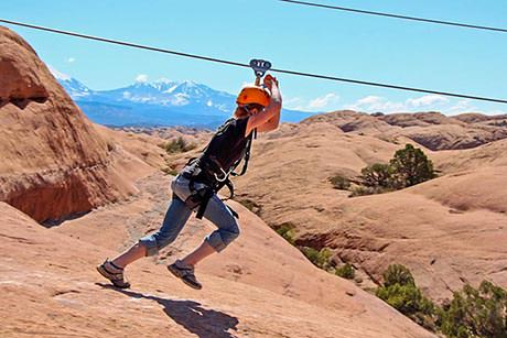 Moab Zip Line Takeoff