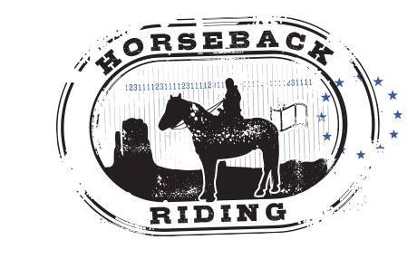 Stamp Horseback